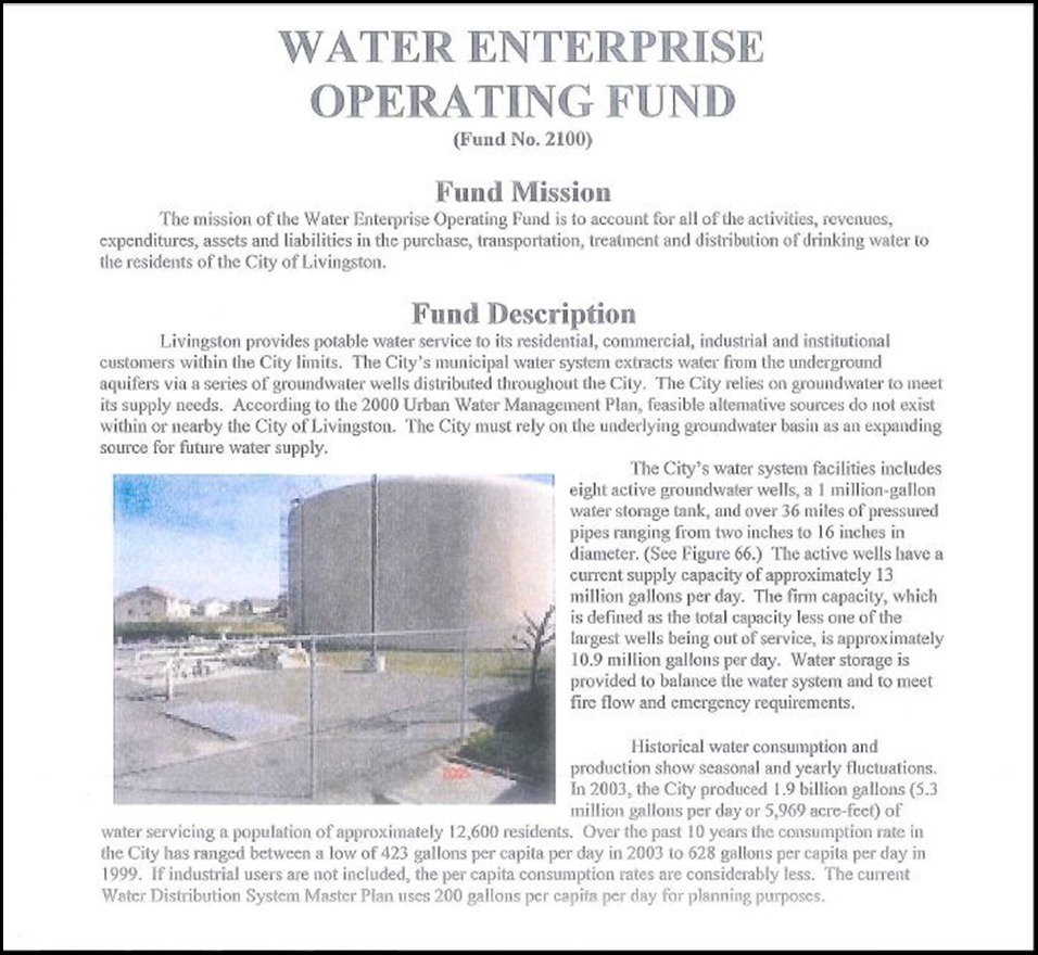 Water Enterprise Operating Fund Page 1