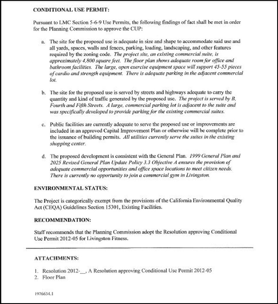 conditional use permit 2012 05 conditional use permit for a