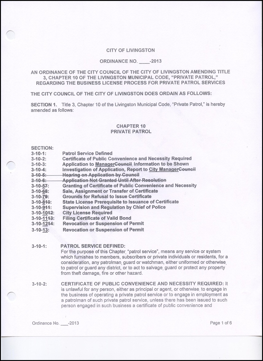 Discussion Item: An Ordinance of the City Council of the