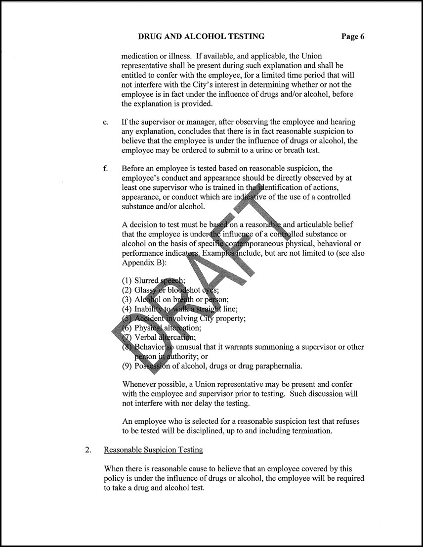 7 Resolution Adopting a New Drug and Alcohol Administrative Policy ...